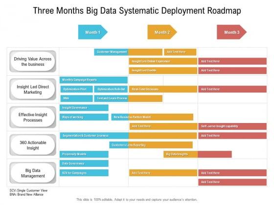 Three Months Big Data Systematic Deployment Roadmap Designs