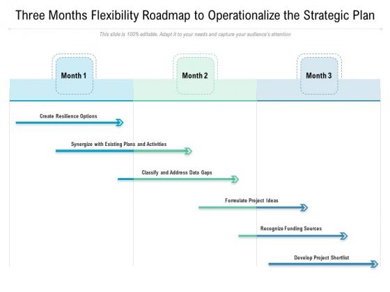 Three Months Flexibility Roadmap To Operationalize The Strategic Plan Graphics