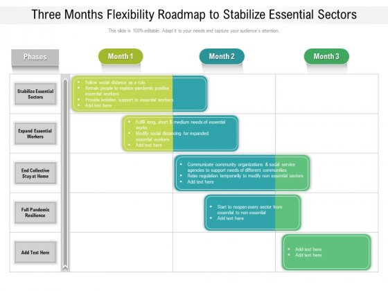 Three Months Flexibility Roadmap To Stabilize Essential Sectors Introduction