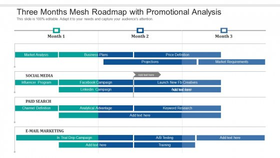 Three Months Mesh Roadmap With Promotional Analysis Rules