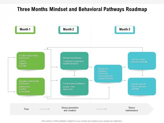 Three_Months_Mindset_And_Behavioral_Pathways_Roadmap_Pictures_Slide_1