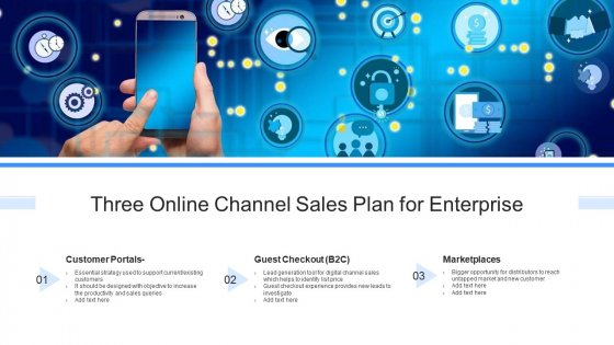 Three Online Channel Sales Plan For Enterprise Ppt Ideas Deck PDF