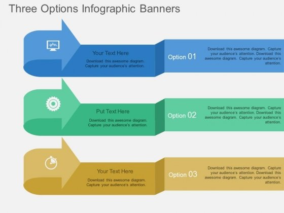 Three Options Infographic Banners Powerpoint Template