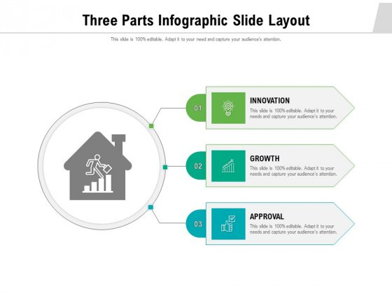 Three Parts Infographic Slide Layout Ppt PowerPoint Presentation File Design Ideas PDF