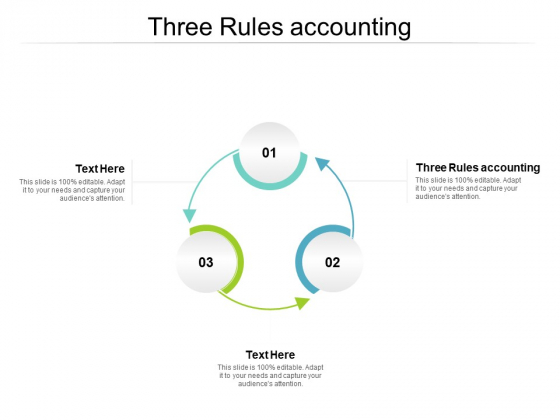 Three Rules Accounting Ppt PowerPoint Presentation Ideas Introduction Cpb