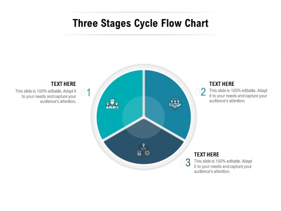 Three Stages Cycle Flow Chart Ppt PowerPoint Presentation Ideas Elements