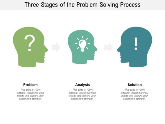 Three Stages Of The Problem Solving Process Ppt PowerPoint Presentation Portfolio Layout
