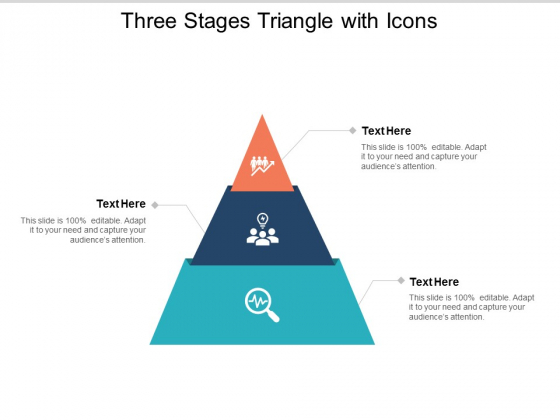 three stages triangle with icons ppt powerpoint presentation ideas master slide