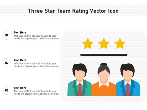 Three Star Team Rating Vector Icon Ppt PowerPoint Presentation Icon Example File PDF