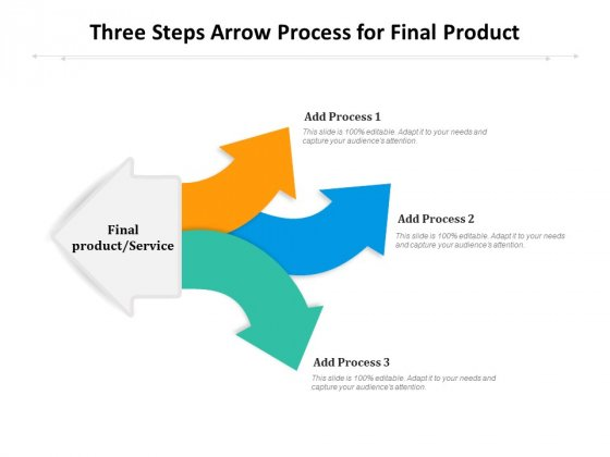 Three Steps Arrow Process For Final Product Ppt PowerPoint Presentation Infographics Infographic Template PDF