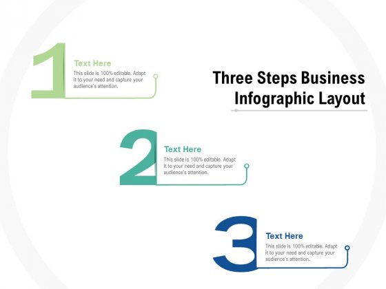 Three Steps Business Infographic Layout Ppt PowerPoint Presentation Layouts Model