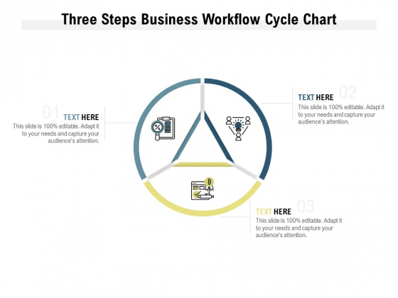 Three Steps Business Workflow Cycle Chart Ppt PowerPoint Presentation Infographics Vector