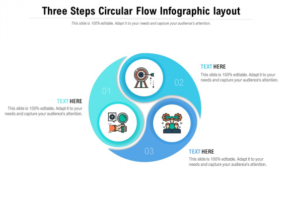 Three Steps Circular Flow Infographic Layout Ppt PowerPoint Presentation Icon Demonstration