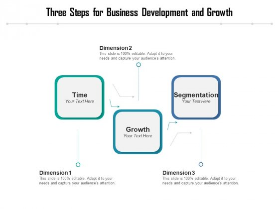 Three Steps For Business Development And Growth Ppt PowerPoint Presentation Portfolio Infographic Template PDF