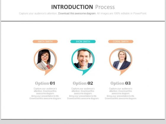 Three Steps Introduction Process Powerpoint Slides