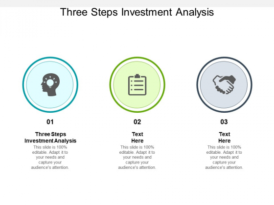 Three Steps Investment Analysis Ppt PowerPoint Presentation Visual Aids Backgrounds Cpb