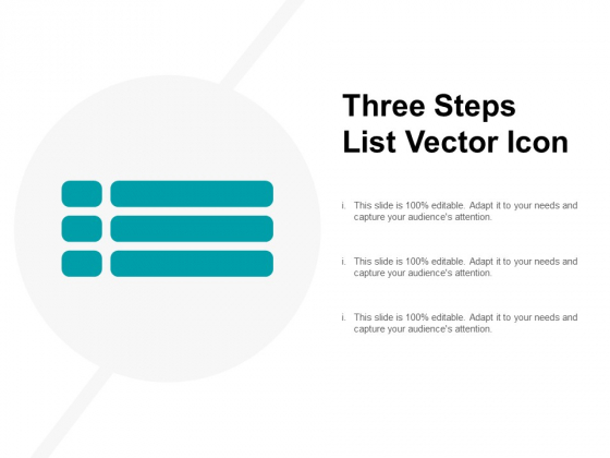 Three Steps List Vector Icon Ppt PowerPoint Presentation Model Slide Download