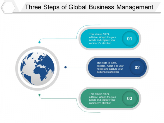 Three Steps Of Global Business Management Ppt PowerPoint Presentation File Format Ideas
