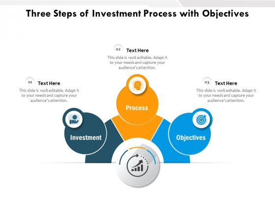 Three Steps Of Investment Process With Objectives Ppt PowerPoint Presentation Portfolio Picture PDF