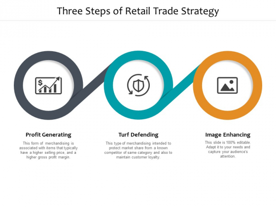 Three Steps Of Retail Trade Strategy Ppt PowerPoint Presentation Show Icons