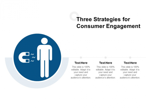Three Strategies For Consumer Engagement Ppt PowerPoint Presentation Pictures Maker