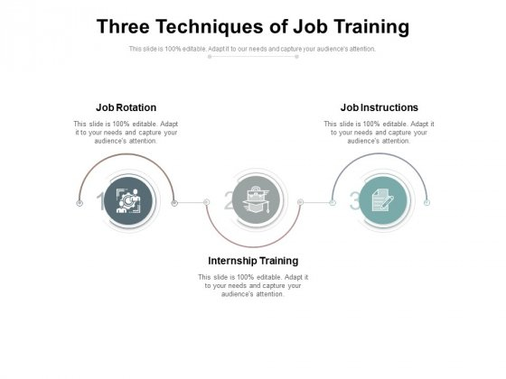 Three Techniques Of Job Training Ppt PowerPoint Presentation Model Example PDF