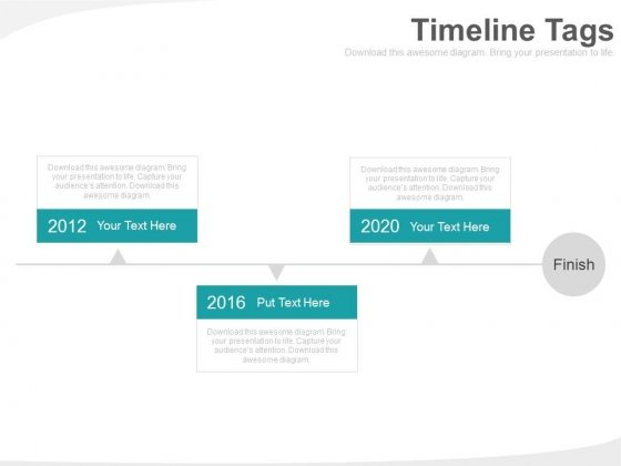 Three Timeline Tags For Business Planning Powerpoint Slides