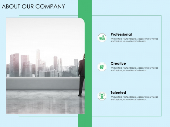 Three Trees Architecture About Our Company Ppt Model Tips PDF