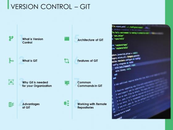 Three Trees Architecture Version Control Git Ppt Slides Graphics PDF