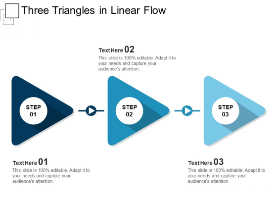 Three Triangles In Linear Flow Ppt PowerPoint Presentation Icon Themes