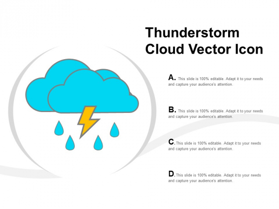 Thunderstorm Cloud Vector Icon Ppt Powerpoint Presentation Icon Slide Portrait