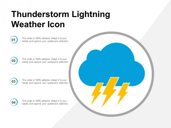 Thunderstorm Lightning Weather Icon Ppt Powerpoint Presentation Icon Infographic Template
