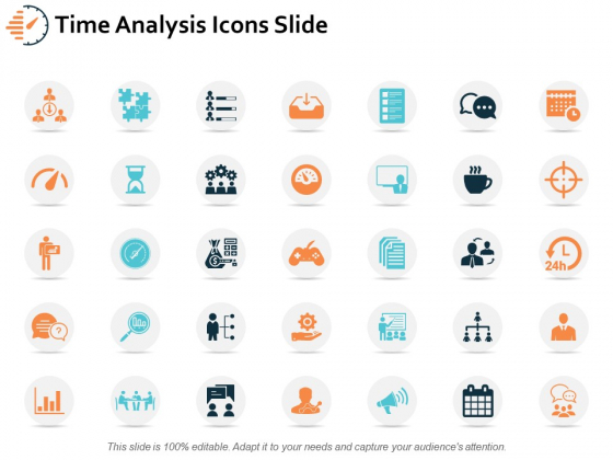 Time Analysis Icons Slide Ppt PowerPoint Presentation Layouts Format Ideas