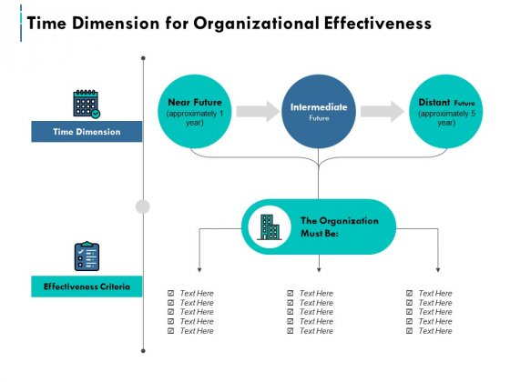 Time Dimension For Organizational Effectiveness Ppt PowerPoint Presentation Model Information