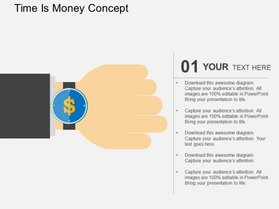Time Is Money Concept Powerpoint Templates