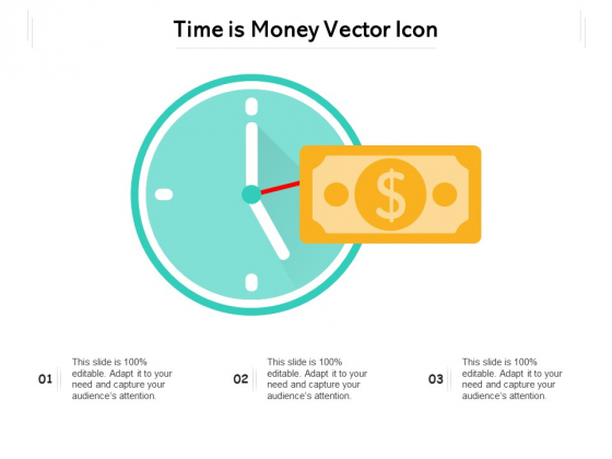 Time Is Money Vector Icon Ppt PowerPoint Presentation Icon Backgrounds PDF