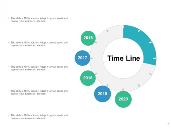 Time Line 2016 To 2020 Ppt PowerPoint Presentation File Graphics Template