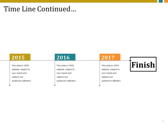 Time Line Continued Ppt PowerPoint Presentation Slides Example