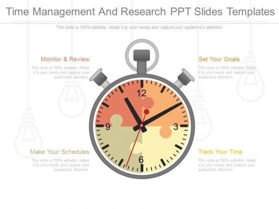 Time Management And Research Ppt Slides Templates