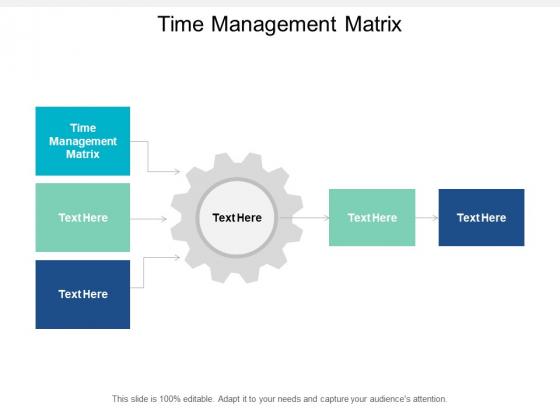 Time Management Matrix Ppt PowerPoint Presentation Show Cpb