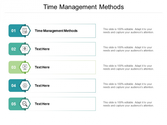 Time Management Methods Ppt PowerPoint Presentation Gallery Templates Cpb