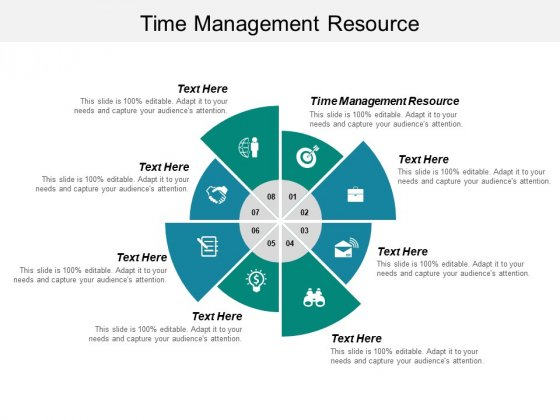 Time Management Resource Ppt PowerPoint Presentation Inspiration Example Cpb