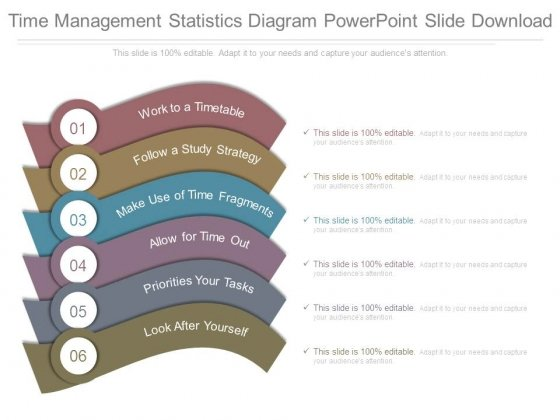 Time Management Statistics Diagram Powerpoint Slide Download