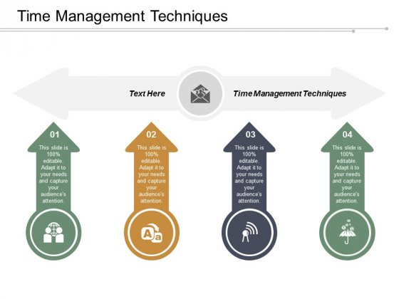 Time Management Techniques Ppt Powerpoint Presentation Gallery Influencers Cpb