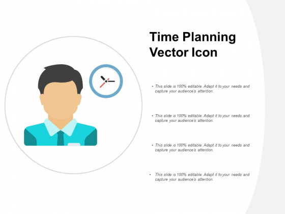 Time Planning Vector Icon Ppt Powerpoint Presentation Icon