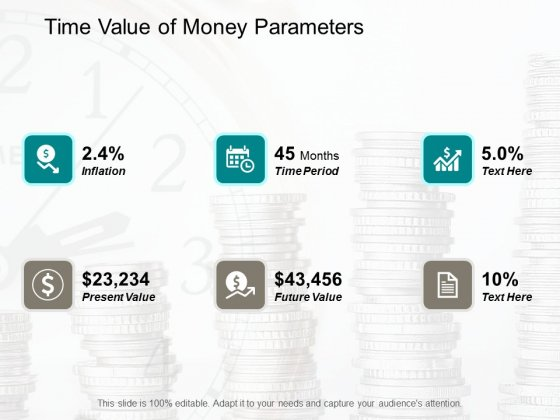 Time Value Of Money Parameters Ppt Powerpoint Presentation Ideas Backgrounds