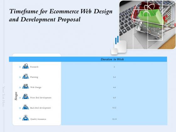Timeframe For Ecommerce Web Design And Development Proposal Ppt Inspiration Clipart Images PDF