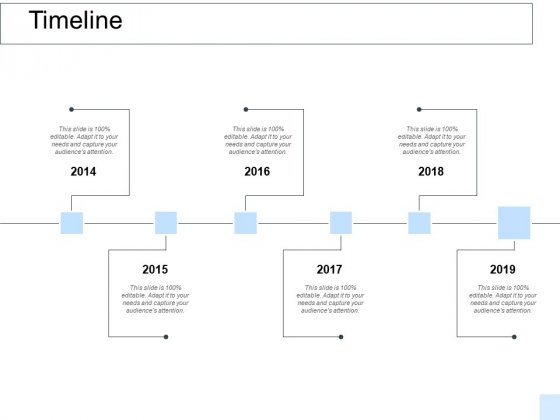 Timeline 2014 To 2019 Ppt PowerPoint Presentation Ideas Shapes
