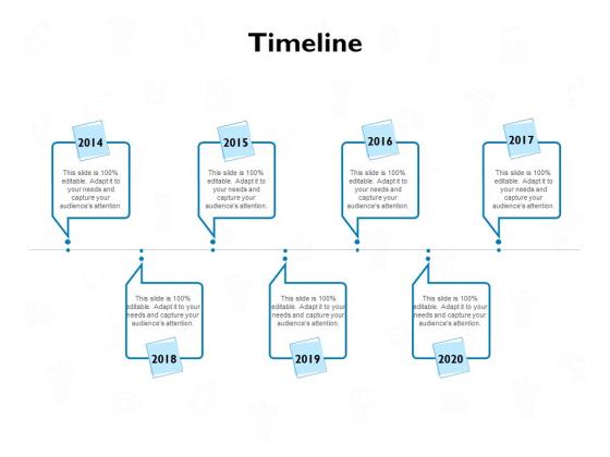timeline 2014 to 2020 ppt powerpoint presentation outline smartart