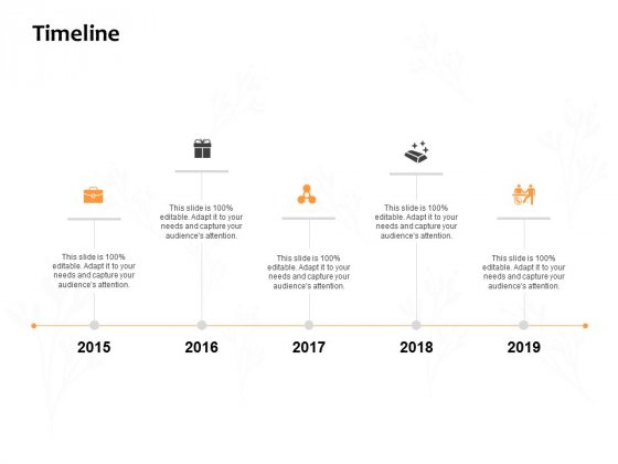Timeline 2015 To 2019 Ppt PowerPoint Presentation Gallery Shapes